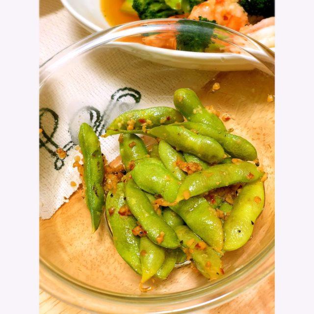 ミナト ガーリックシュリンプ 枝豆