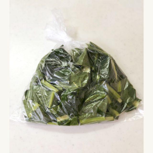 小松菜 冷凍保存 方法
